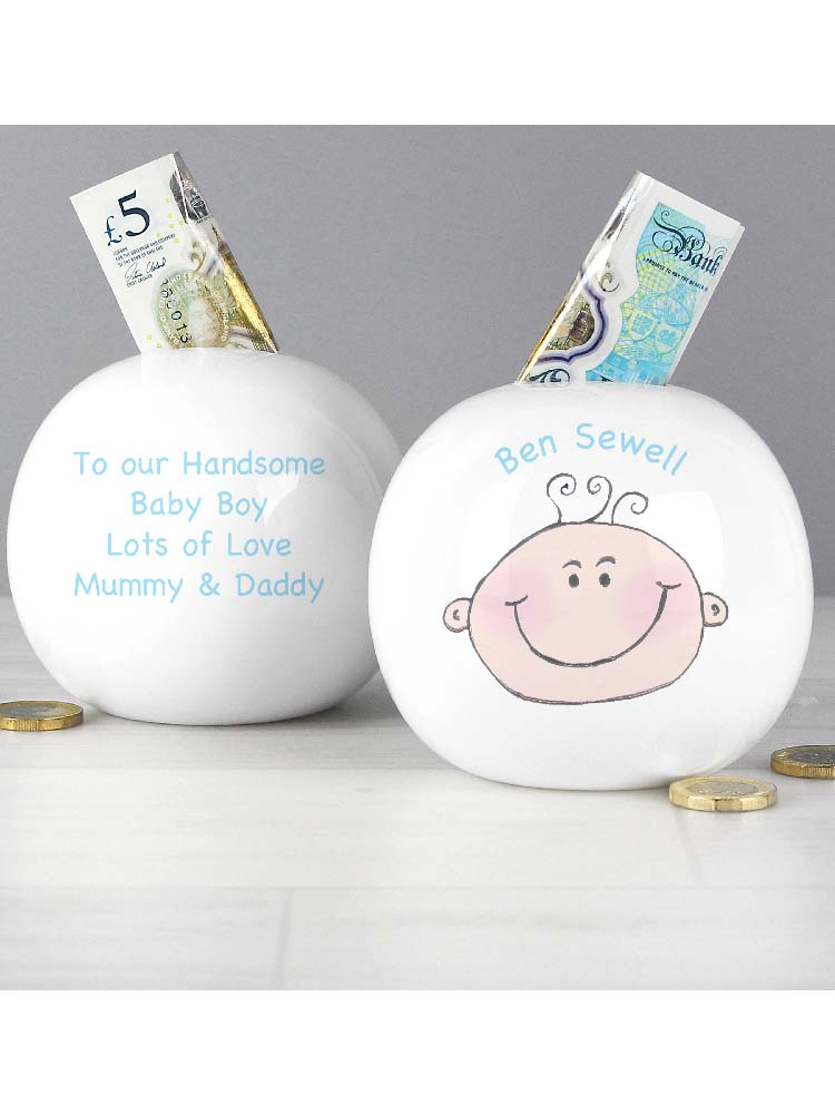 Personalised Baby Boy Money Box
