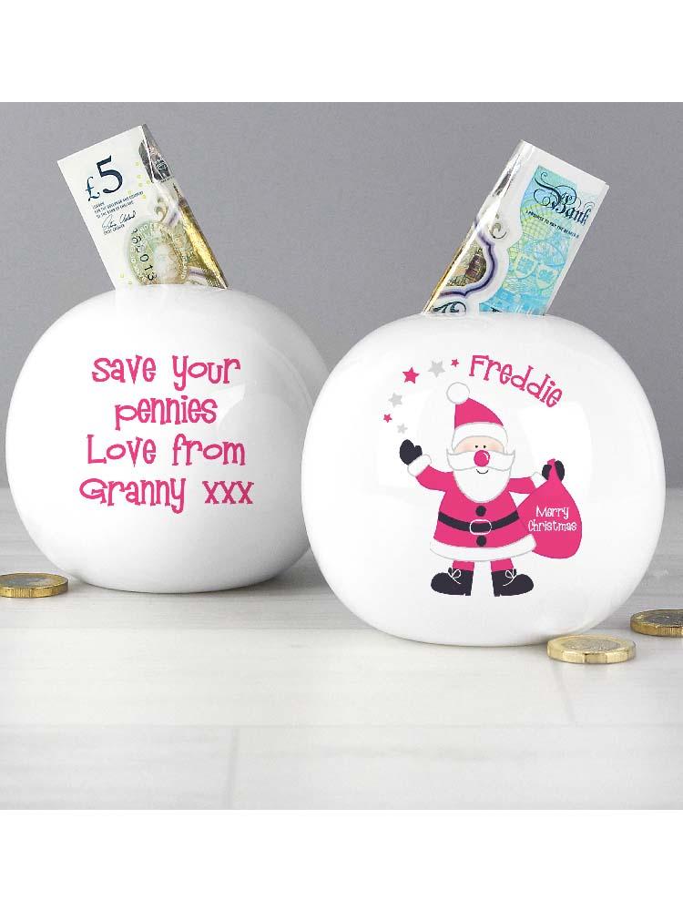 Personalised Santa Money Box