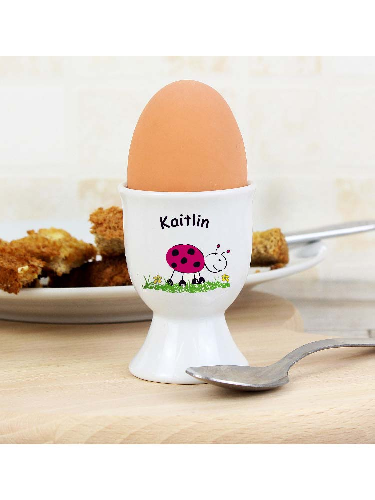 Personalised Ladybird Egg Cup