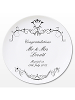 Personalised Ornate Swirl Plate