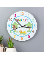 Personalised Blue Animal Alphabet Clock