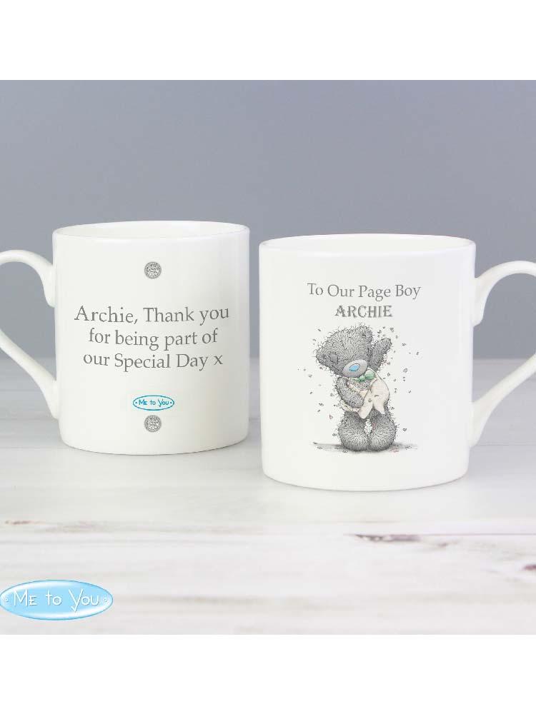 Personalised Me To You Male Wedding Balmoral Mug
