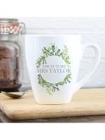 Personalised Fresh Botanical Latte Mug