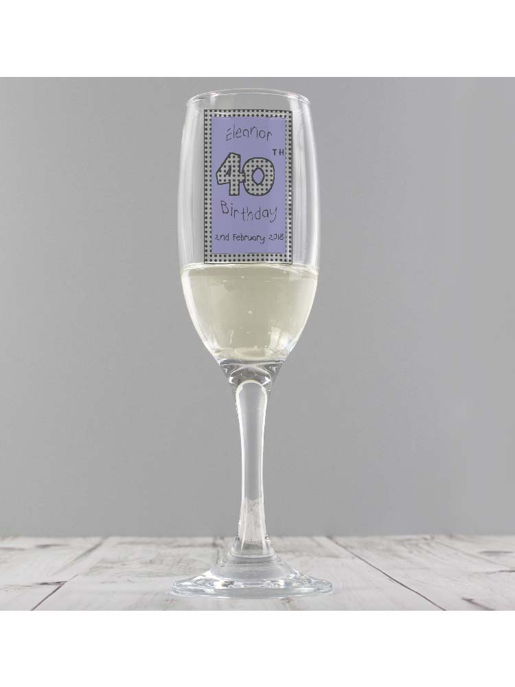 Personalised Lilac Happy Birthday Flute