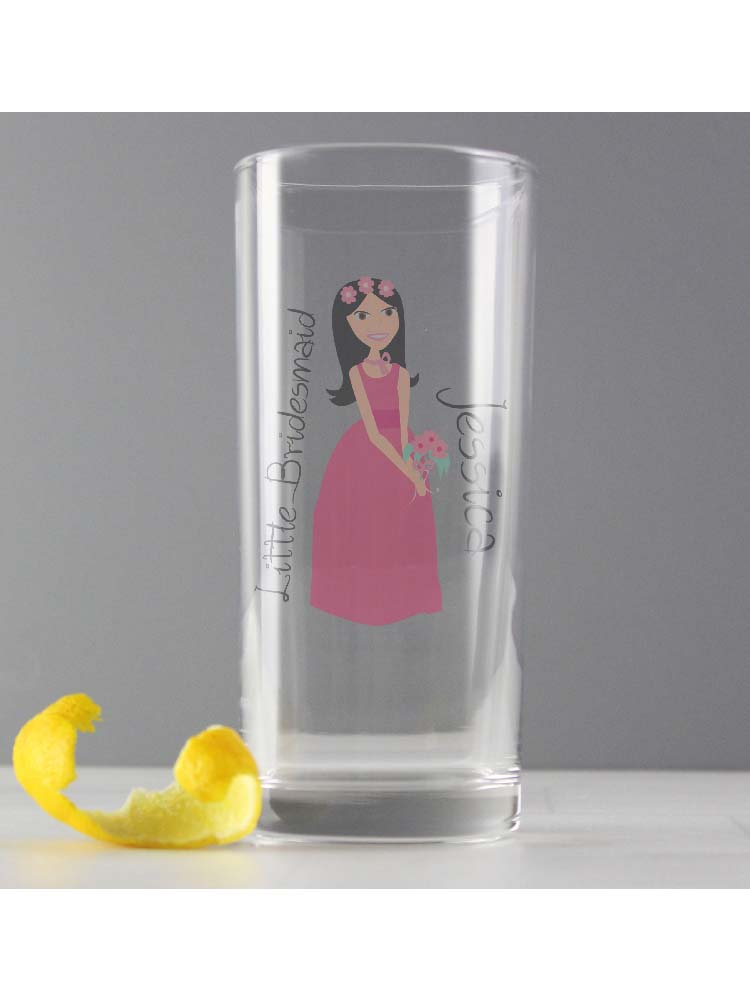 Personalised Fabulous Little Bridesmaid/Flower Girl Hi Ball Glass