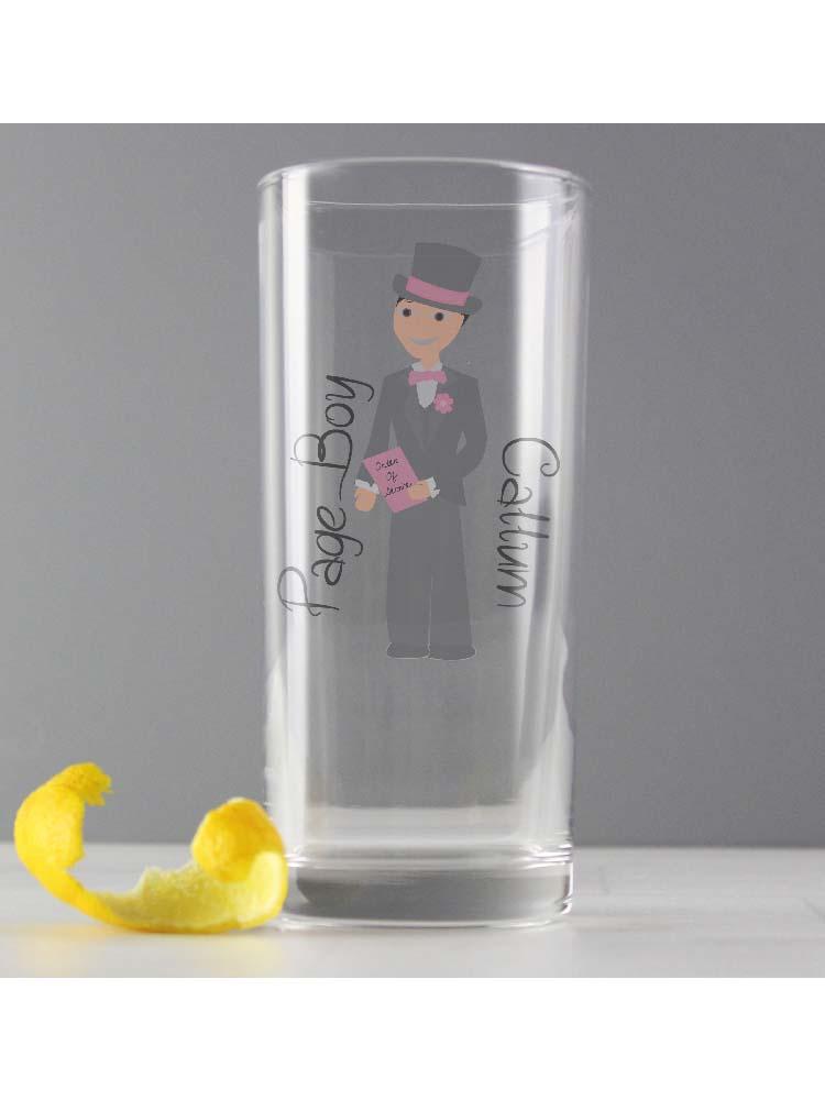 Personalised Fabulous Page Boy Hi Ball Glass