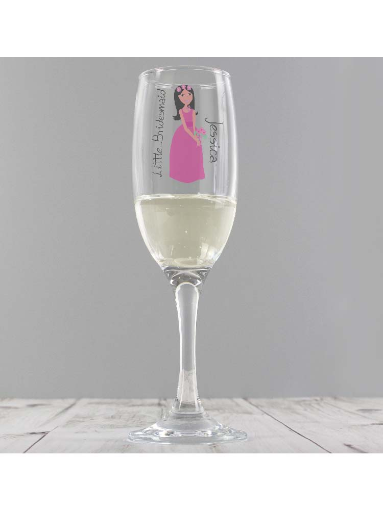 Personalised Fabulous Little Bridesmaid Flute
