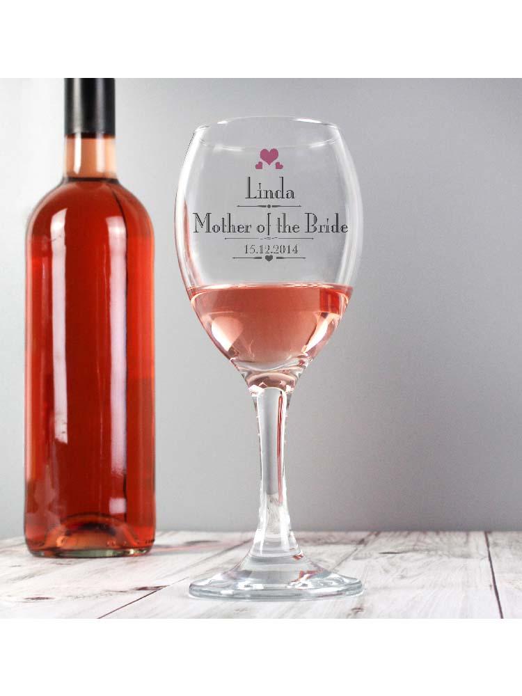 Personalised Decorative Wedding Female Wine Glass