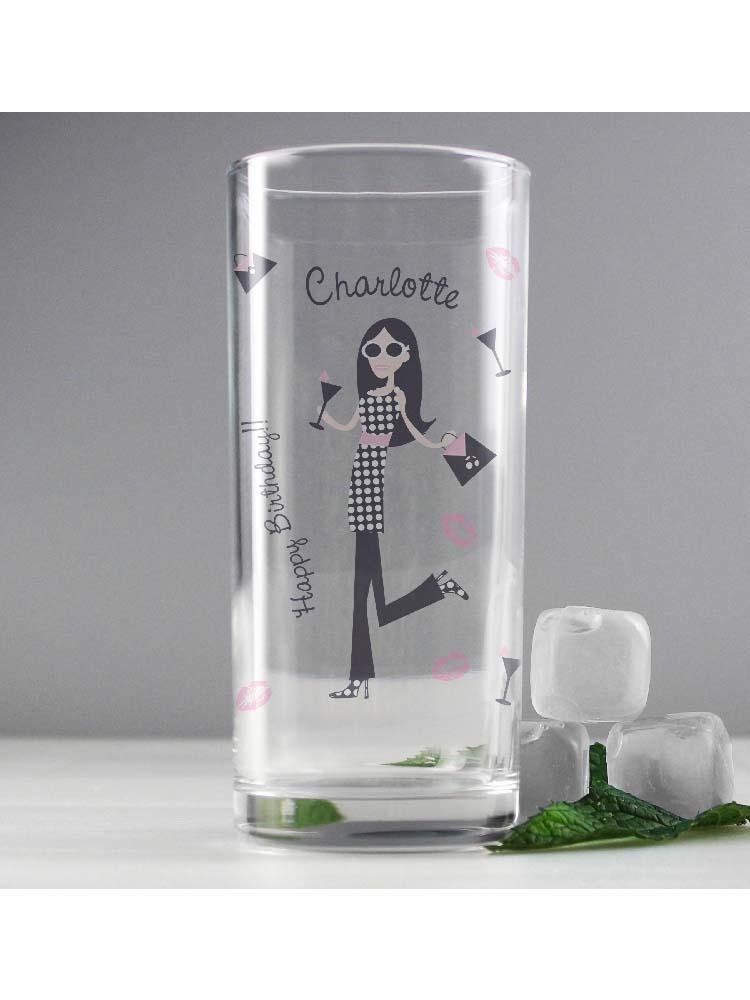 Personalised Fabulous Hi Ball Glass