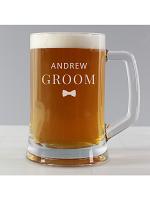 Personalised Groom Pint Stern Tankard