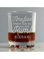 Personalised Time Flies When You're Having Rum Tumbler