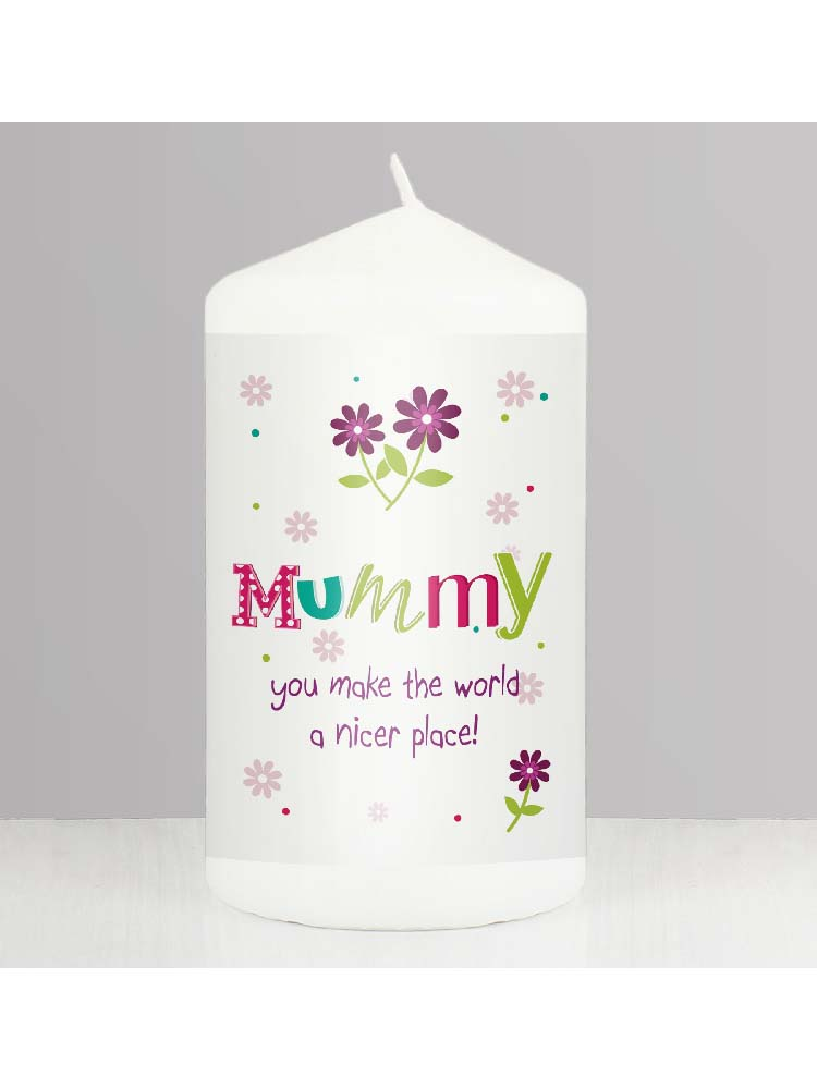 Personalised Patchwork Flower Candle