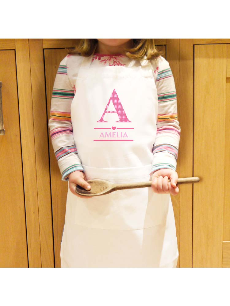 Personalised Girls Initial Children's Apron