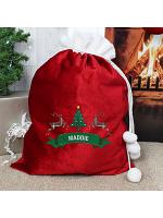 Personalised Nordic Christmas Luxury Pom Pom Sack
