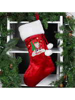 Personalised Tartan Santa Luxury Stocking