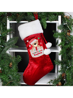 Personalised Pocket Teddy My 1st Christmas Luxury Stocking