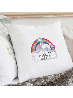 Personalised Unicorn Cream Cushion Cover