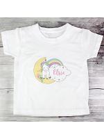 Personalised Baby Unicorn T shirt 2-3 Years