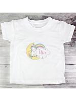 Personalised Baby Unicorn T shirt 3-4 Years
