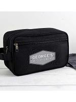 Personalised Plaque Black Vanity Bag