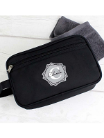 Personalised Geometric Initial Black Vanity Bag
