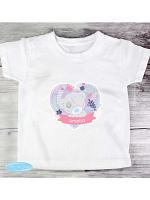 Personalised Tiny Tatty Teddy Girl's T-shirt 2-3 Years