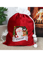 Personalised Red Christmas Santa Sack