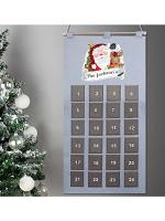 Personalised Santa Advent Calendar In Silver Grey