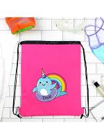 Personalised Narwhal Pink Swim Bag