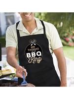 Personalised BBQ King Black Apron
