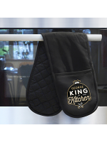 Personalised King of the Kitchen Oven Gloves