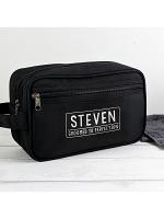 Personalised Free Text Black Vanity Bag