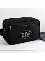 Personalised Initials Black Vanity Bag
