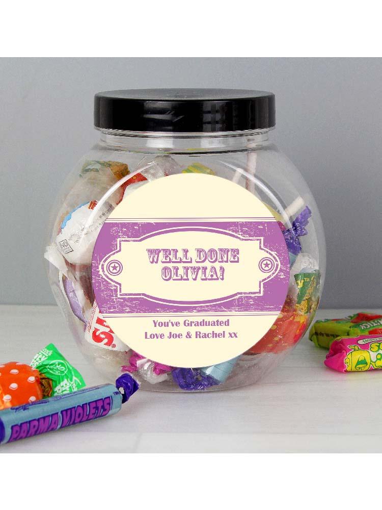 Personalised Vintage Purple Sweet Jar