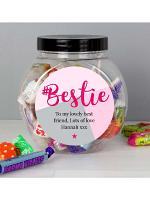Personalised #Bestie Sweet Jar