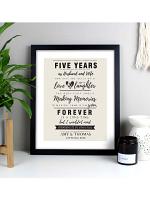 Personalised Anniversary Black Framed Poster Print