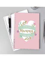Personalised Floral Heart Mothers Day A5 Notebook