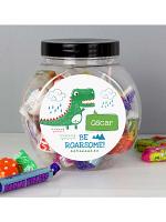 Personalised 'Be Roarsome' Dinosaur Sweet Jar