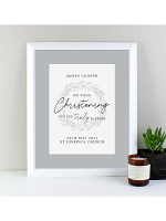 Personalised 'Truly Blessed' Christening White Framed Print