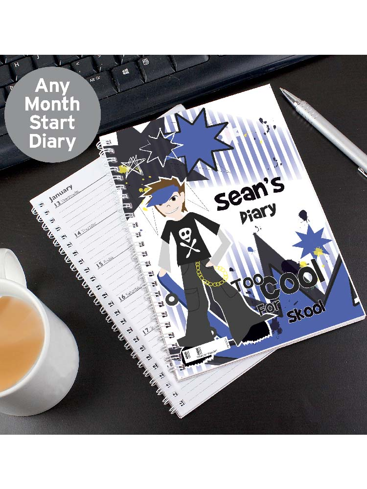 Personalised Too Cool Boy - A5 Diary