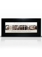 Personalised Affection Art Godfather Small Frame