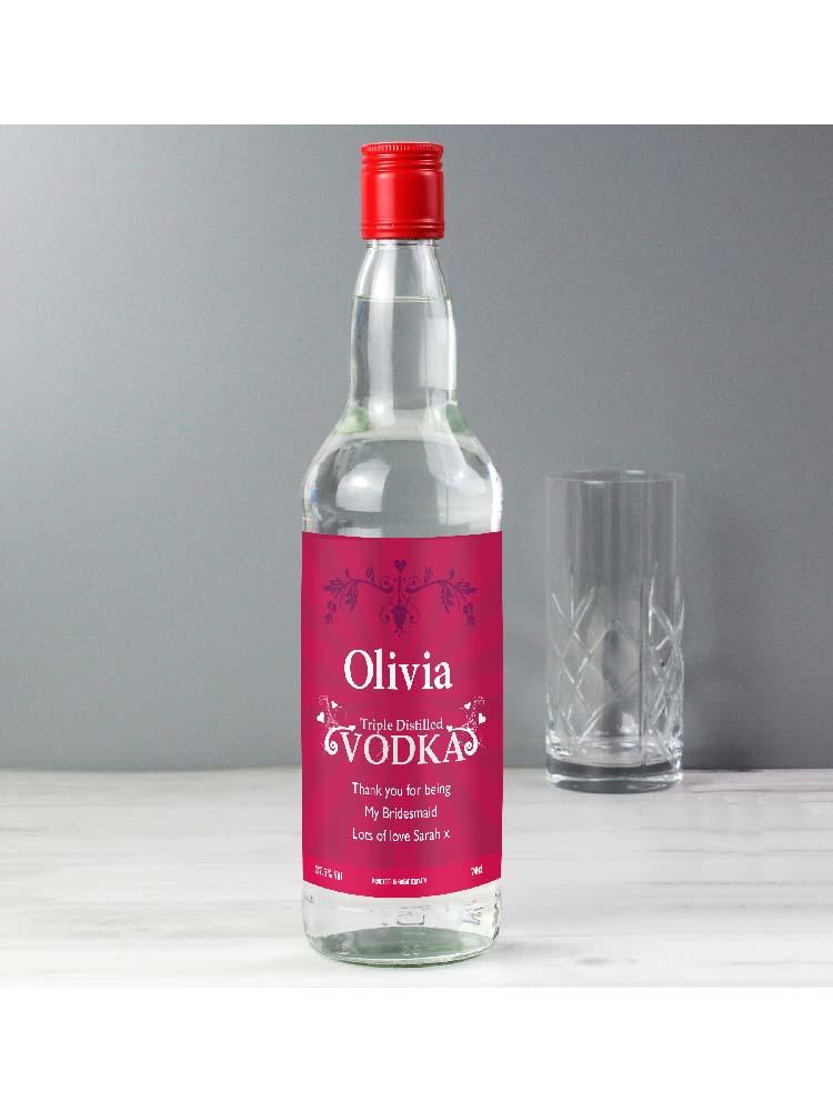 Personalised Classy Vodka