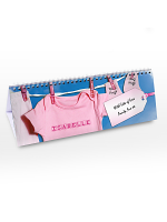 Personalised Baby Girl Desk Calendar