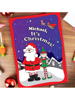 Personalised Its Christmas Elf Story Book