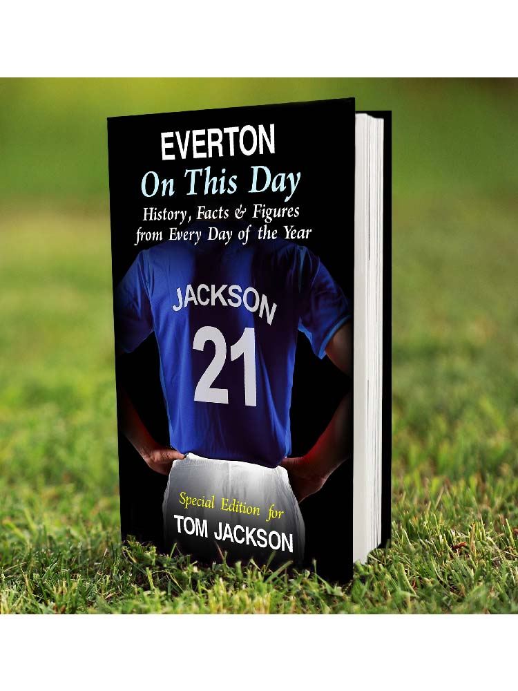 Personalised Everton on this Day Book