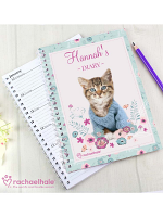Personalised Rachael Hale Cute Kitten A5 Diary