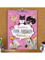 Personalised Rachael Hale Fun Animals A4 Wall Calendar