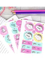 Personalised Baby Unicorn Sticker Set