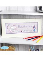 Personalised Tiny Tatty Teddy Unicorn Name Frame