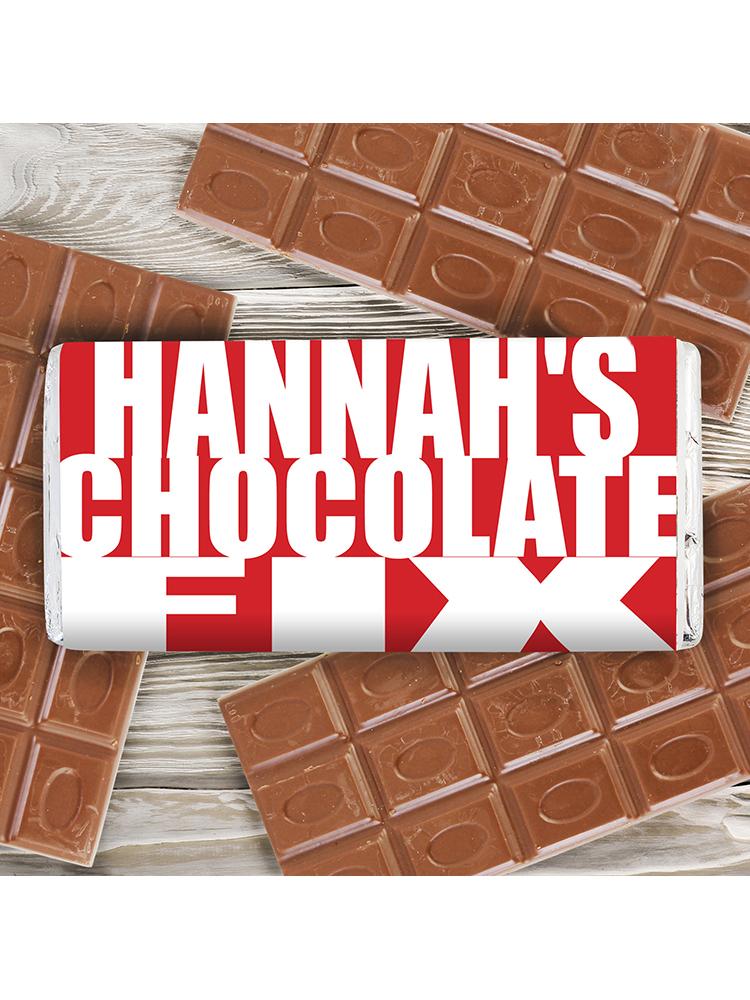 Personalised Chocolate Fix Milk Chocolate Bar